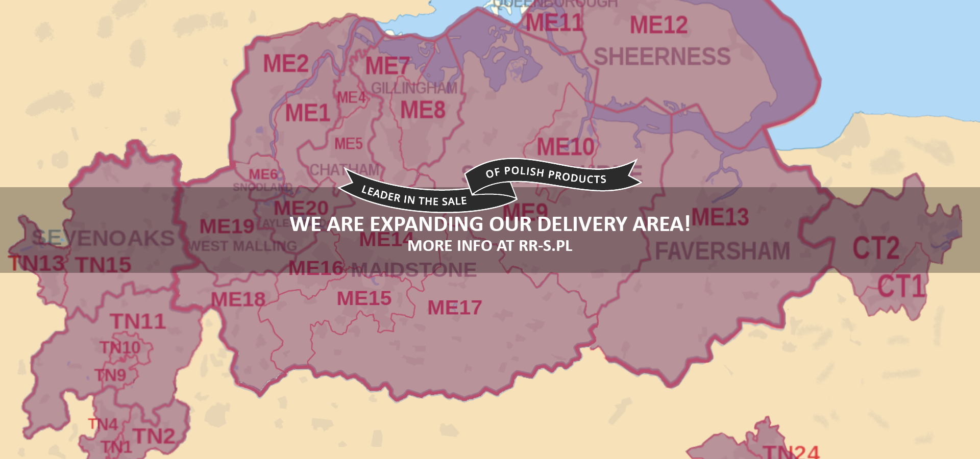 We are expanding our delivery area, more info at rr-s.pl